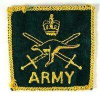 Vintage Army Green and Gold Kangaroo Coat of Arms Embroidered Sew-On Patch