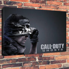 """Call of Duty Ghosts Man Cave Printed Box Canvas Picture A1.30""""x20""""30mm Deep"""