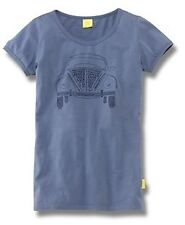WOMENS BLUE 'NICKNAME' T SHIRT L LARGE -GENUINE VW BEETLE COLLECTION MERCHANDISE