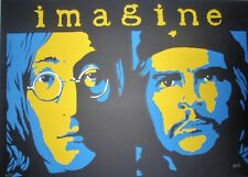 IMAGINE Original Signed CUBAN Screenprint Poster / CHE & LENNON  / CUBA BEATLES