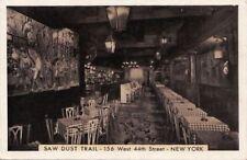 Postcard Saw Dust Trail New York Ny