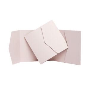 Nude Matte Wallet Invitations. WEDDING Pocketfold Invites. Wedding card