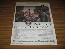 1928 Print Ad Hutto Engineering Co. Mechanic in Shop Tests Cylinders Detroit,MI