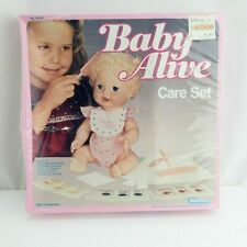 Vintage Baby Alive Care Set 1983 Kenner Food Diapers Brush Comb Pacifier New