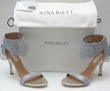 NEW NINA RICCI Sandals Light Gray  Size 39(Italian) Made in Italy