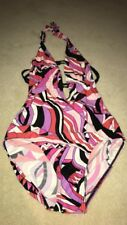 Next Patterned Ladies Backless Swimsuit Size 8