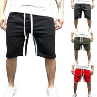 Mens Elastic Waist Shorts Summer Beach Shorts Pants Swiming Trunks Swimsuits 50