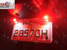 Led projector brake stop light number license plate bolts Harley Softail Chopper