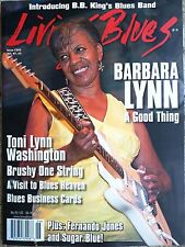 LIVING BLUES Magazine #243 (2016) BARBARA LYNN Brushy One String business cards