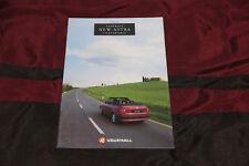 Car Brochure: Vauxhall Astra Convertible - 1993 (Includes 2.0i)