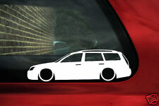 2x LOW car outline stickers - for Ford Mondeo mk3 ST220 Estate TDCi, Zetec