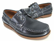 "NUNN BUSH MEN'S ""AVALON"" MOC-TOE CASUAL OXFORD NAVY LEATHER US SIZE 8 WIDE"