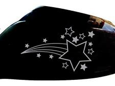Shooting Stars Car Sticker Wing Mirror Styling Decals (Set of 2), Silver