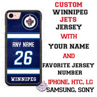 Winnipeg Jets Personalized Hockey Jersey Phone Case Cover for iPhone etc.