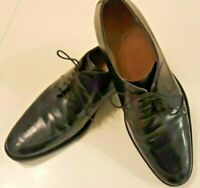 COLE HAAN GRAND OS Men's SIZE 10.5 Black Leather Oxford Split-Toe Dress Shoes