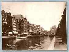Nederland, Amsterdam, Rokin Vintage silver print. Pays Bas. Nederland. Tirage