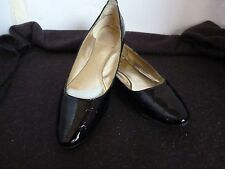 RMK ELISA FLAT HEEL LADIES BLACK SNAKE DESIGN SHOES SIZE 6