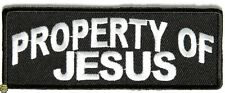PROPERTY OF JESUS - IRON or SEW ON PATCH