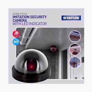 Realistic Dummy CCTV Security Camera LED Surveillance Warning Home Safety