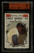 1961 TOPPS #575 ERNIE BANKS AS BVG 8 NM-MT CUBS SUBS(8.5 8.5 8.5 7.5) OLD LABEL