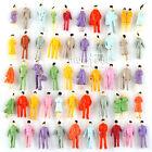 100PCS Painted Model Train Passenger People Figures Street Scenes N Scale 1:150
