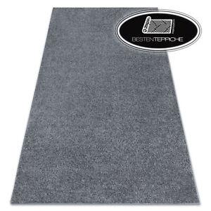 Modernen Teppichboden 'SANTA FE' grau einfarbig glatt große Teppiche nach Maß