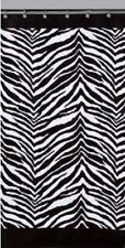 "Zebra Shower Curtain 72"" Black White Animal Print Jungle Safari"