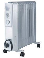 DAEWOO Casa Lavoro Bianco 500w portatile riempita di olio radiatore riscaldatore con termostato