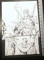 Signed Shelby Robertson Darkshrine Rough Cut Page 11 Original Comic Art