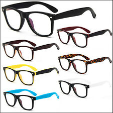 Fashion Retro Vintage Unisex Mens Womens Clear Lens Frame Trendy Nerd Glasses
