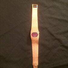 VINTAGE RARE WOMANS BIRKS RED LED WATCH ~TESTED~FREE SHIP!
