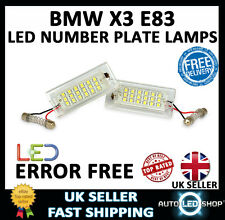 BMW X3 E83 2003 - 2009 WHITE SMD LED NUMBER PLATE LAMP LIGHT BULB UPGRADE UNITS