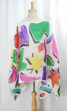 PLEATS PLEASE Madame-T Multicolor Cape Shawl Poncho ISSEY MIYAKE 150 0529