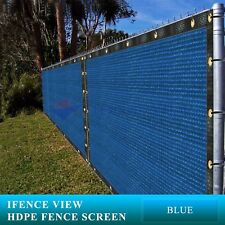 Ifenceview 8'x3'-8'x50' Blue UV Fence Privacy Screen Mesh Fabric Garden Outdoor