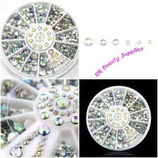 Diamante Rhinestone Gems Crystal 3D Nail Art Decoration 300 Pieces - UK Seller