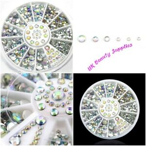 3D Nail Art Decoration - Rhinestones Diamantes Gems Crystals Charms  UK SELLER