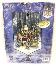 Candamar Designs Spirit Of Christmas Santa Banner Wallhanging Cross Stitch Kit