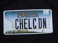 "MONTANA BIG SKY  VANITY LICENSE PLATE "" CHELC DN "" CHELSEA  CHELSEY DOWN  ROY MT"