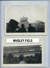 "1945 (?) Wrigley Field WORLD SERIES amateur Photo pair - as found 3 x 4.5"""