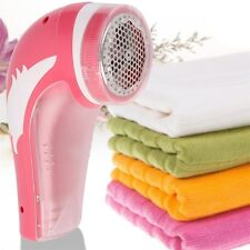 Red Rechargeable Electric Fabric Shaver Lint Fuzz Remover Household New QZ