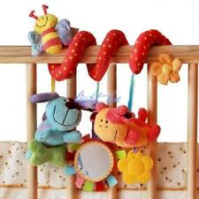 Baby Activity Spiral Sensory Toys Cot Bed / Pram With Mirror & Animals Cute LC
