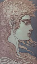 Ernst Fuchs (1930-2015) Original Farbradierung Anno 1988 : ADONIS # 304/350 !