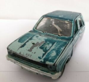 VINTAGE RUSSIAN METAL CAR TOY PEUGEOT 104 S. 1/25 4 OPENED DORS  USSR For Parts