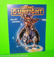 COSMIC GUNFIGHT By WILLIAMS 1983 ORIGINAL NOS PINBALL MACHINE PROMO SALES FLYER