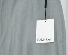 "Calvin Klein Flat Front Pant Dress Slacks Gray Mens 36"" x 32"" NWT Poly Blend"
