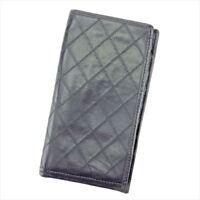 Chanel Wallet Purse Long Wallet Black Woman unisex Authentic Used T5535