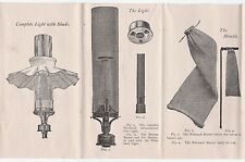 RARE  Welsbach System Incandescent Gas Lighting Lamp Co. 1889 Brochure Catalog