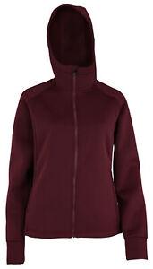 Adidas Women's Unlined Performance Zip Up Jacket, Maroon