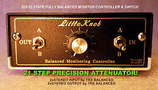 Discrete Speaker Selector Monitor Volume Controller and 4 Way Line Switcher