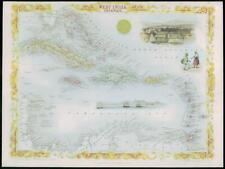 "1850 Antique Map ""WEST INDIA ISLANDS"" Indies Leewards Cuba TALLIS COLOUR (28)"